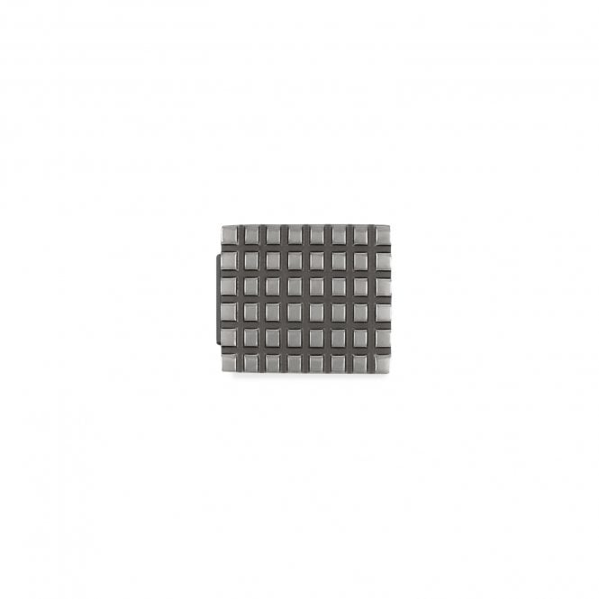 Nomination Glam Gunmetal Black Grid Charm