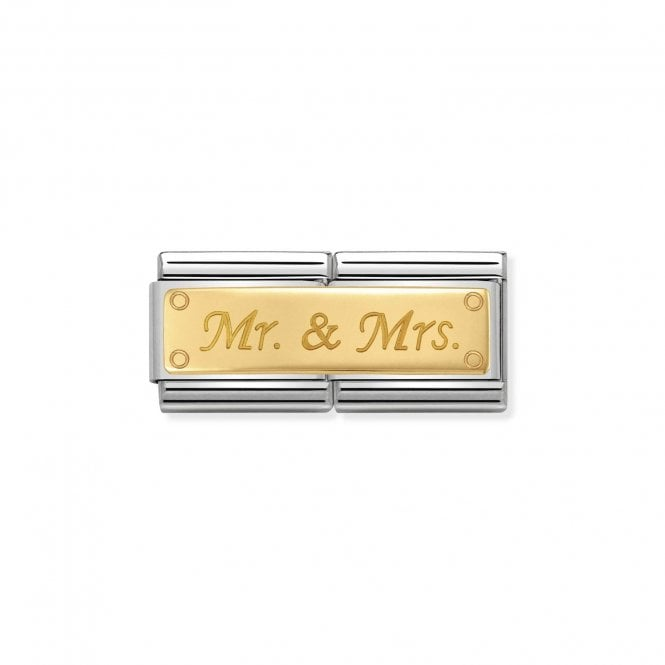 Nomination Gold (Double Mr and Mrs) Wedding & Anniversary Charms