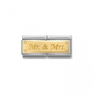 Gold (Double Mr and Mrs) Wedding & Anniversary Charms