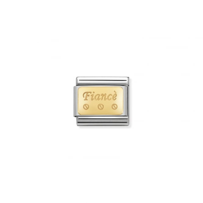 NOMINATION Gold Engraved Fiance Charms