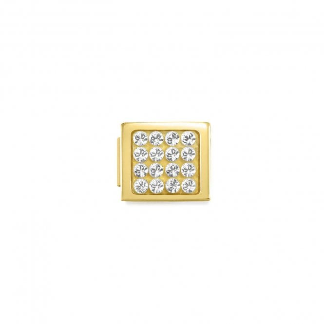 Nomination Gold Glam Pave CZ Charms
