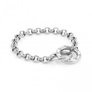 Infinito Bracelet with Cubic Zirconia in Steel