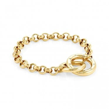 Infinito Bracelet with Cubic Zirconia in Yellow Gold
