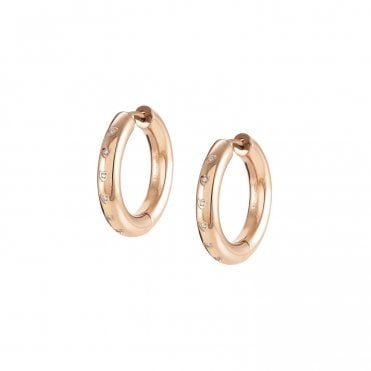 Infinito Earrings with Cubic Zirconia in Rose Gold