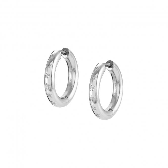 Nomination Infinito Earrings with Cubic Zirconia in Silver Steel