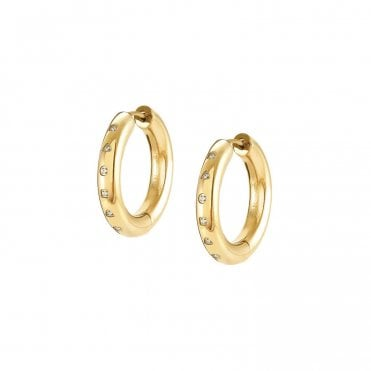 Infinito Earrings with Cubic Zirconia in Yellow Gold