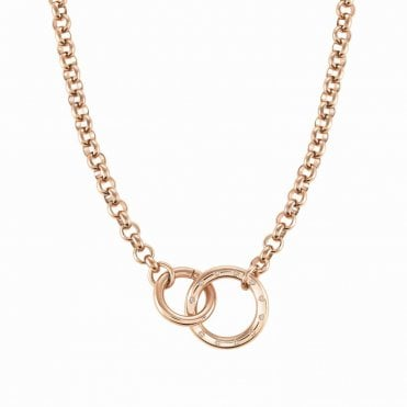 Infinito Necklace with Cubic Zirconia in Rose Gold