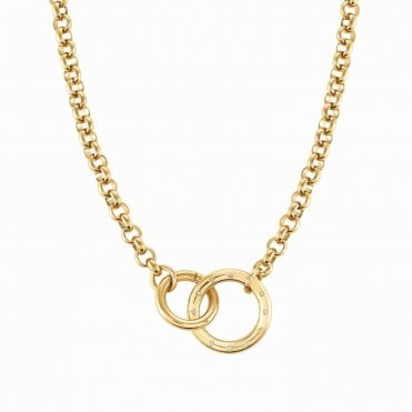 Infinito Necklace with Cubic Zirconia in Yellow Gold