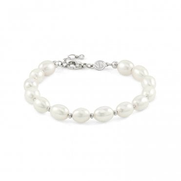 Kate Bracelet in Silver with White Pearls