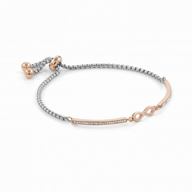 Nomination Milleluci Rose Gold, Stainless Steel & CZ Infinity Loop Bracelet