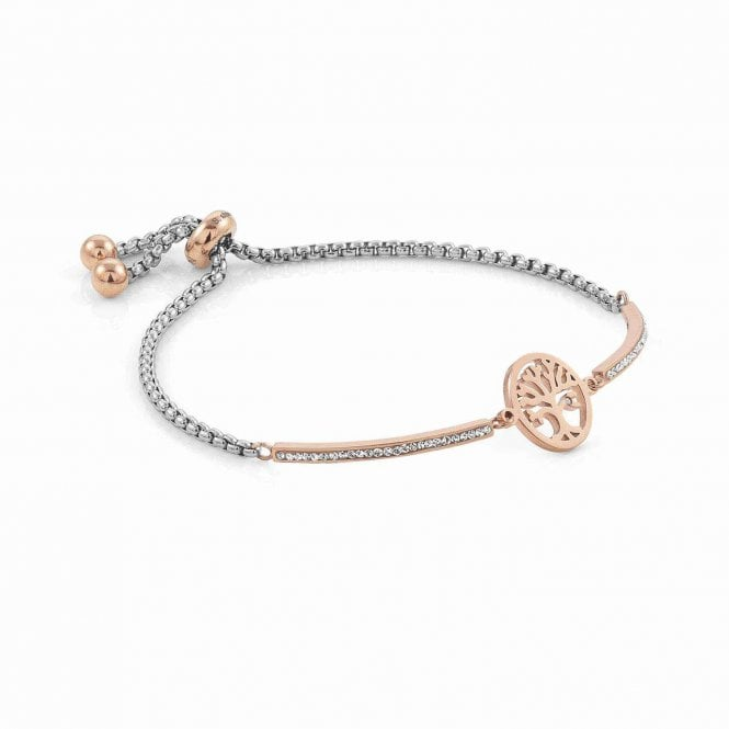 Nomination Milleluci Rose Gold, Stainless Steel & CZ Tree of Life Bracelet