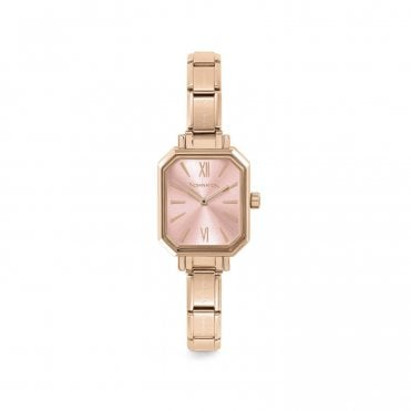Paris Rose Gold Classic Composable Rectangular Watch