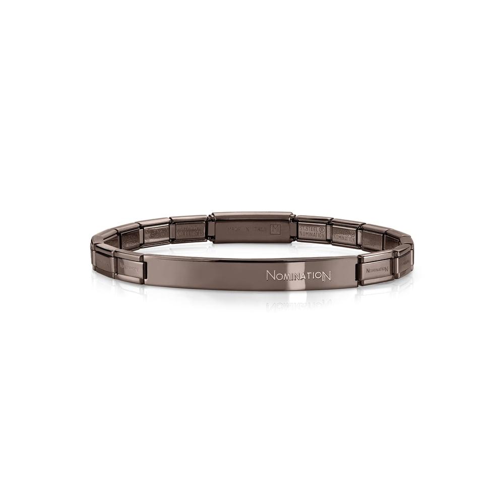 Nomination Bracelet Charms: NOMINATION Trendsetter Chocolate Brown Bracelets