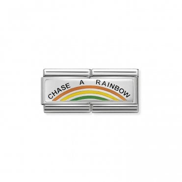 Silver and Enamel (Double Chase A Rainbow) Fashion & Fun Charms
