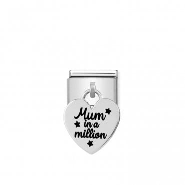 Silver (Mum In A Million) Friends & Family Charms