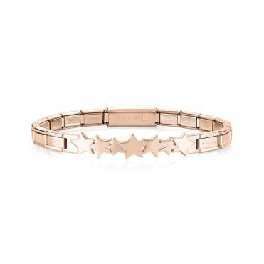 Trendsetter Rose Gold Shooting Stars Bracelet