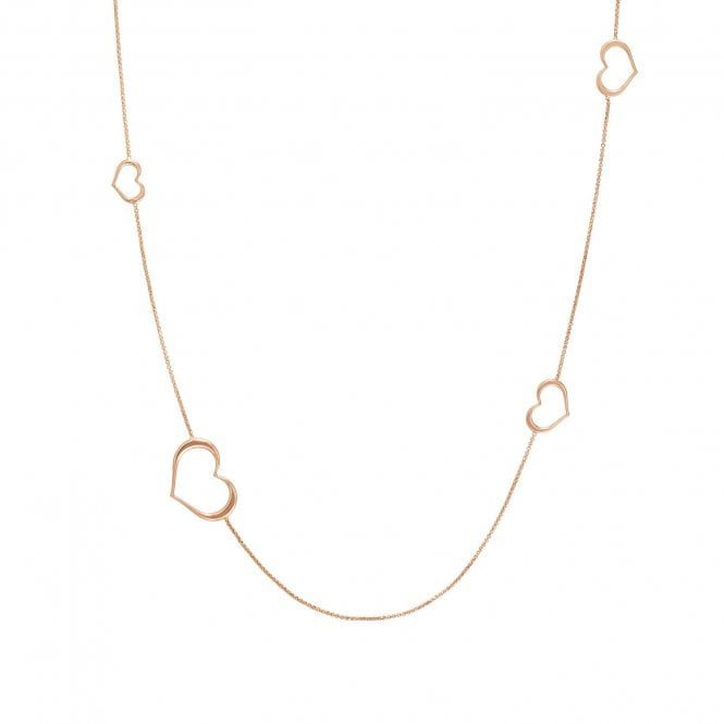 NOMINATION Unica Rose Gold Long Heart Necklace