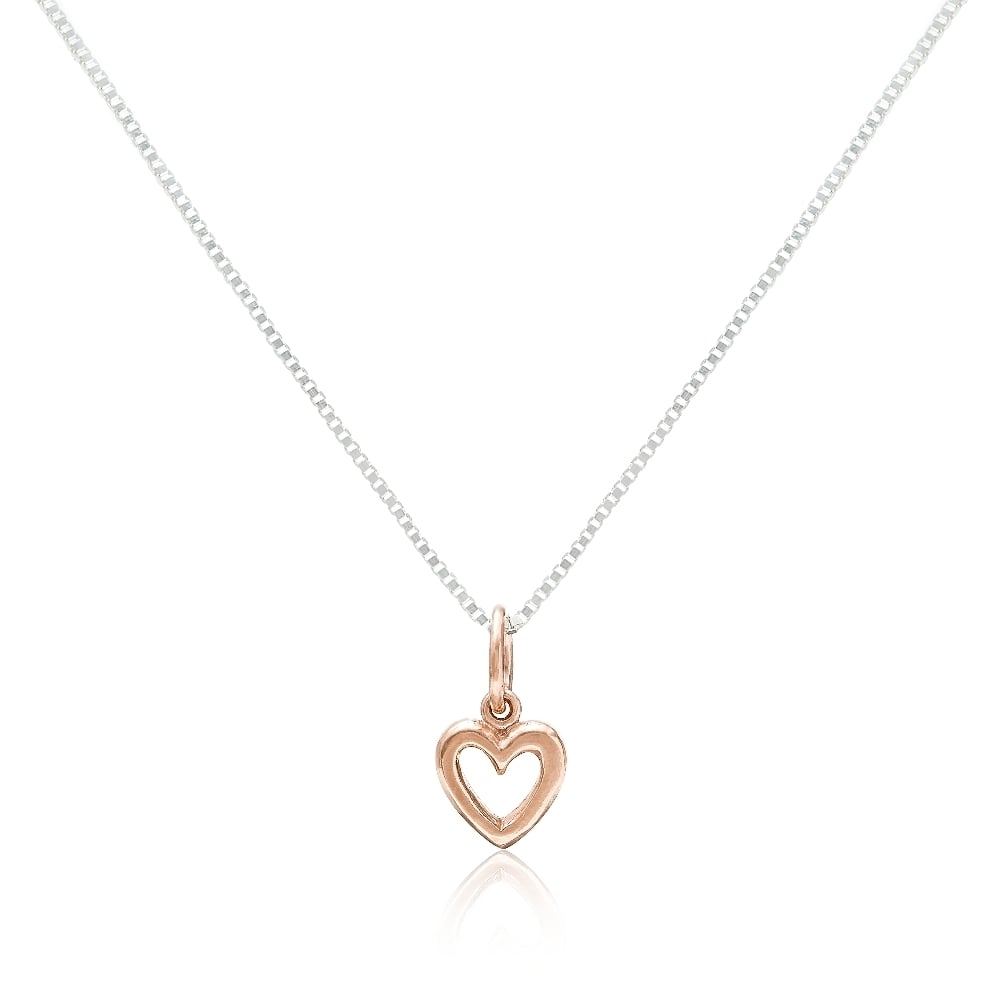 Grace co number 39 rose gold vermeil open heart pendant necklace rose gold vermeil open heart pendant necklace aloadofball Images
