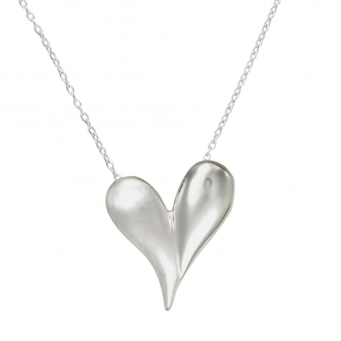 Number 39 Silver Puffed Heart Pendant Necklace