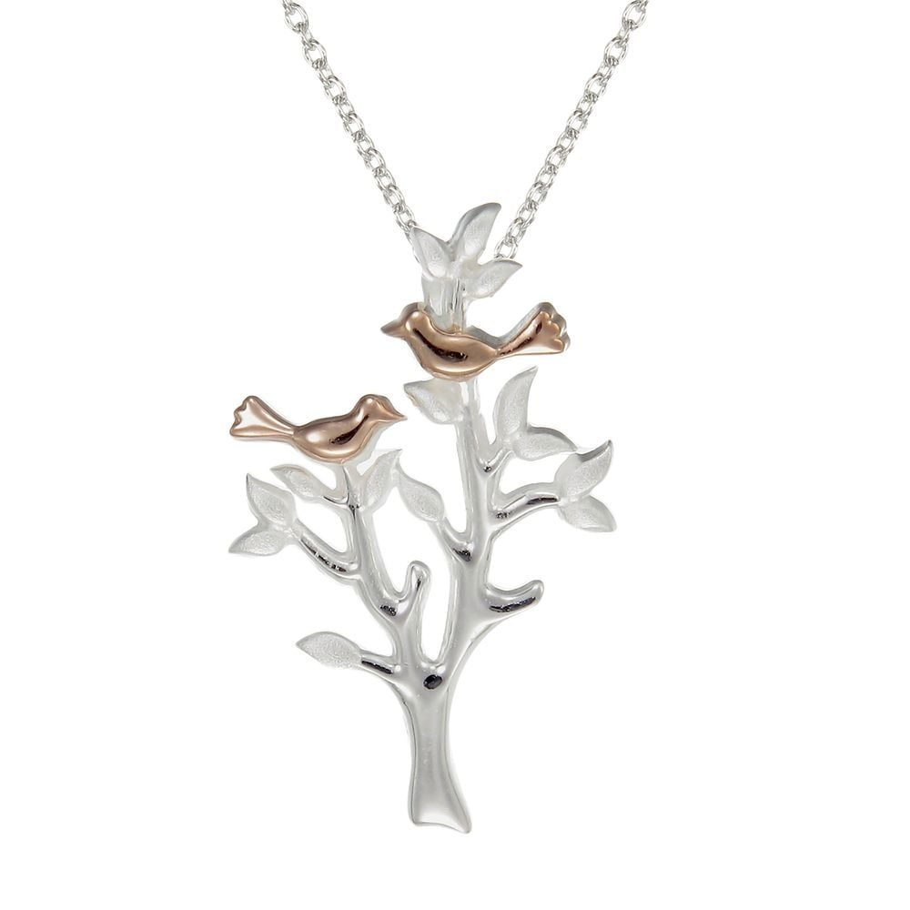 bird nesting pendant grace rose gold silver number love co jewellery image amp necklace vermeil