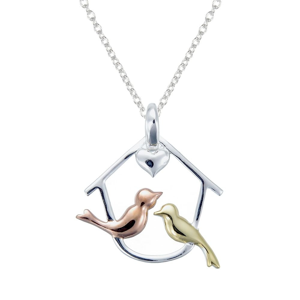 pointe love necklace gold bird virtual collections sandi of library