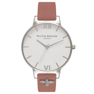 3D Bee Silver White & Rose Watch