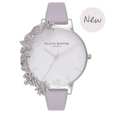 Case Cuff Grey Lilac & Silver Watch