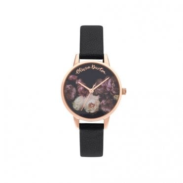 Fine Art Black & Rose Gold Watch