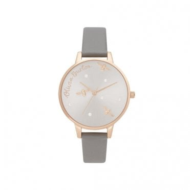Pearly Queen Vegan London Grey & Rose Gold Watch