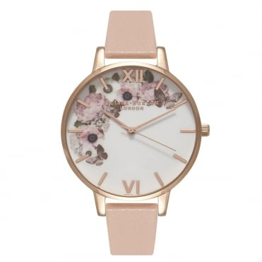 Signature Floral Dusty Pink & Rose Gold Watch