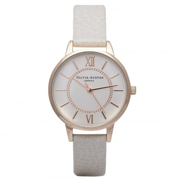 Wonderland Mink And Rose Gold Watch