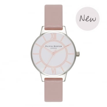 Wonderland Vegan Rose Sand Rose Gold & Silver Watch