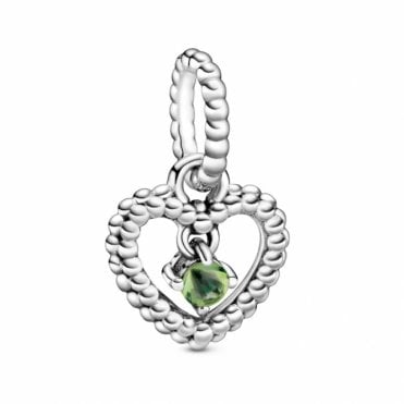 August Birthstone Heart Charm