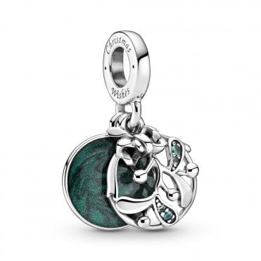 Christmas Mistletoe Dangle Charm