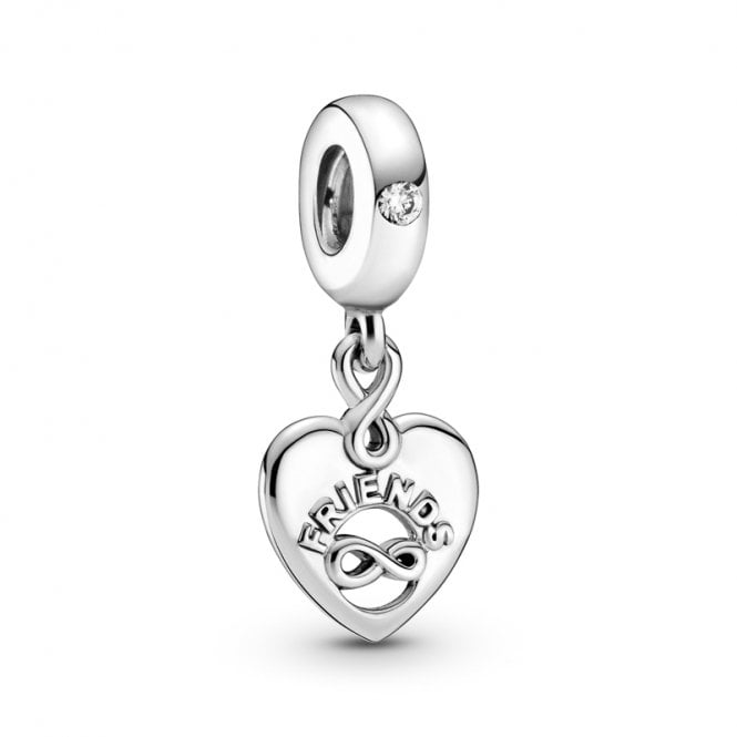 PANDORA Friends Forever Heart Dangle Charm