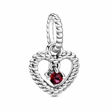 July Birthstone Heart Charm