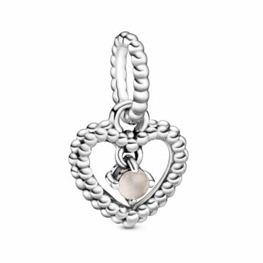 June Birthstone Heart Charm