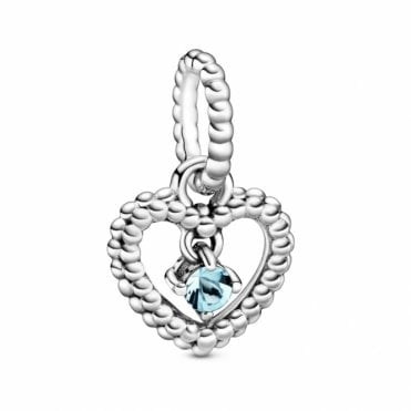 March Birthstone Heart Charm