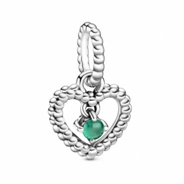 May Birthstone Heart Charm