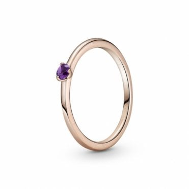 Purple Solitaire Ring Size 54