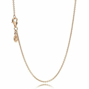 Rose Classic Cable Chain Necklace 45cm
