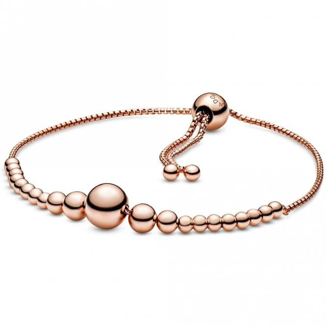 PANDORA Rose String of Beads Slider Bracelet