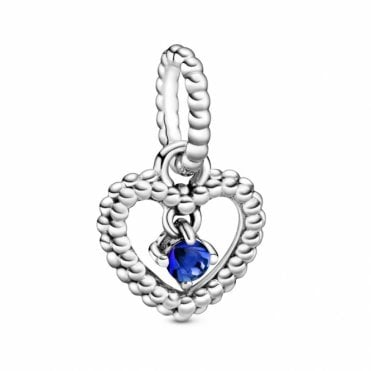 September Birthstone Heart Charm