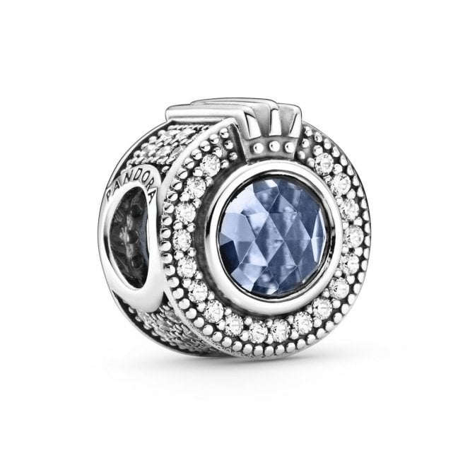PANDORA Signature Sparkling Blue Crown O Charm