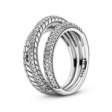 Snake Chain Triple Ring Size 52