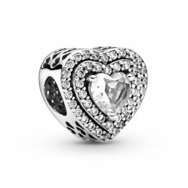 Sparkling Levelled Hearts Charm