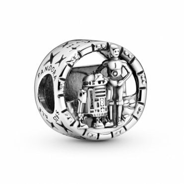 Star Wars C-3PO and R2-D2 Openwork Charm