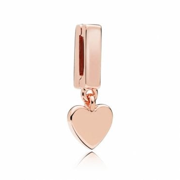 Rose Reflexions Floating Heart Charm