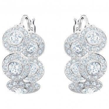 efdcb0d016d4 Angelic Crystal Hoop Earrings in White Rhodium