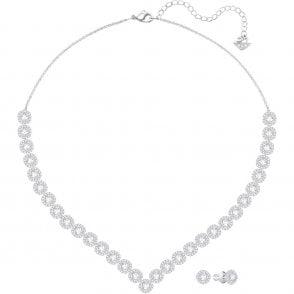 7ab3517c5fe6d SWAROVSKI Diapason White Crystal Rhodium Large Bracelet Necklace ...